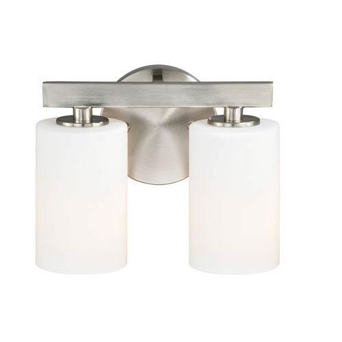 Satin Nickel Two Light Bath Fixture