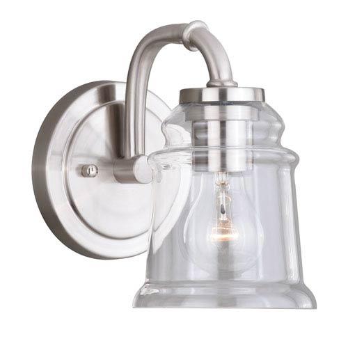 Toledo Satin Nickel One-Light Vanity