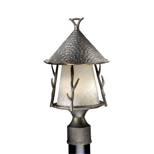 Vaxcel Woodland Autumn Patina 9-Inch Outdoor Post Light