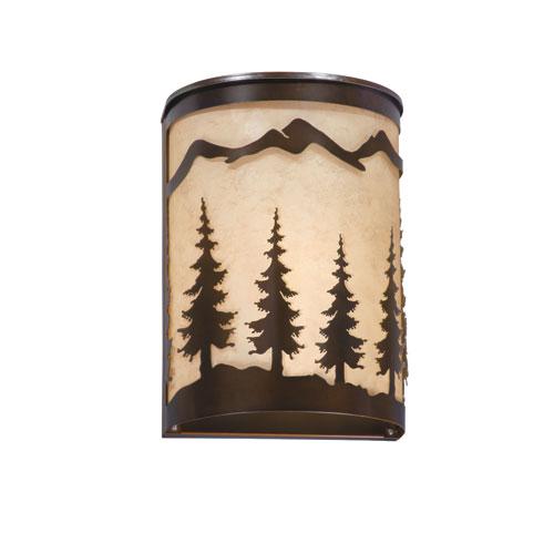 Yosemite Burnished Bronze 8-Inch Wall Sconce