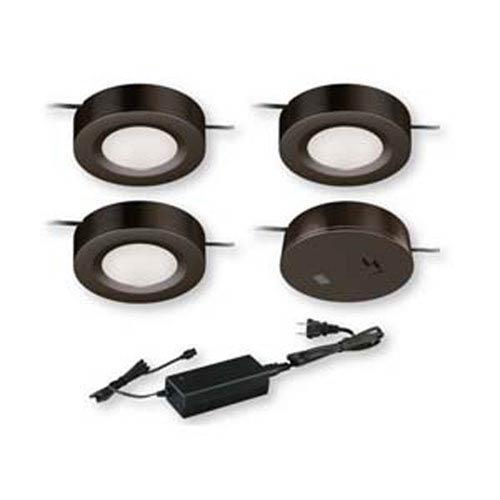 Dual Mount Instalux™ Bronze LED Under Cabinet Puck Light 3-Pack Kit