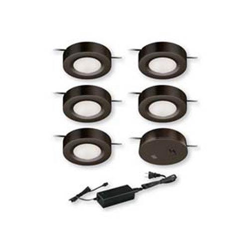 Dual Mount Instalux™ Bronze LED Under Cabinet Puck Light 5-Pack Kit