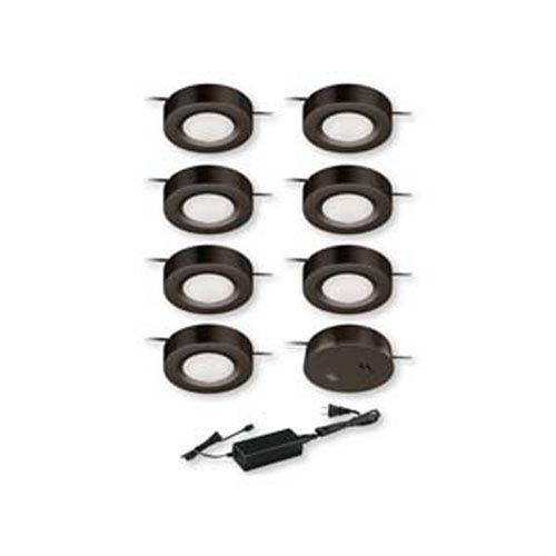 Dual Mount Instalux™ Bronze LED Under Cabinet Puck Light 7-Pack Kit
