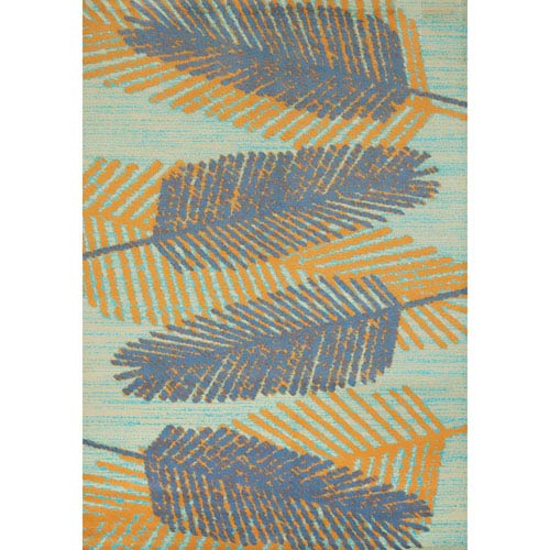 Breezy Days Blue Rectangular: 1 Ft. 10 In. x 3 Ft. Rug