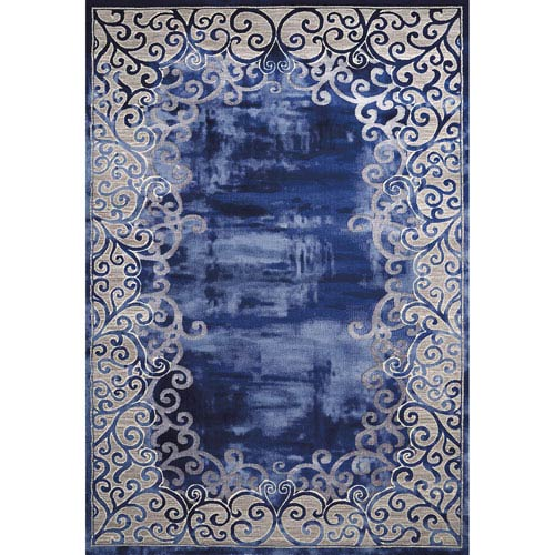 Mirage Luminous Midnight Rectangular: 5 Ft. 3 In. x 7 Ft. 2 In. Rug