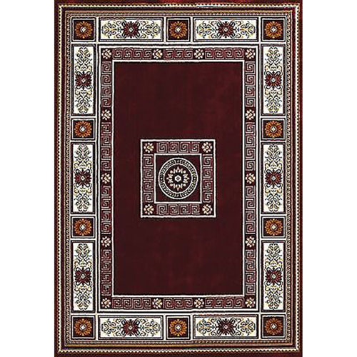United Weavers Antiquities Oriental Border Ruby Rectangular: 5 Ft. 3 In x 7 Ft. 2 In. Rug