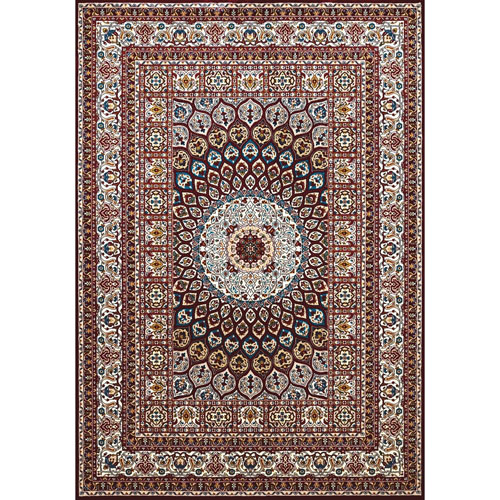 Antiquities Jaipur Ruby Rectangular: 5 Ft. 3 In x 7 Ft. 2 In. Rug
