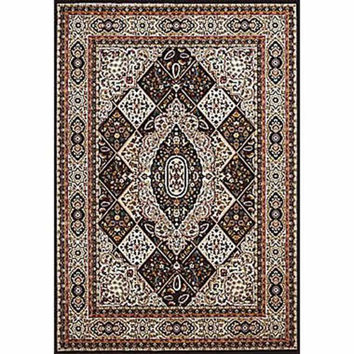 Antiquities Kirman Jewel Navy Rectangular: 5 Ft. 3 In x 7 Ft. 2 In. Rug
