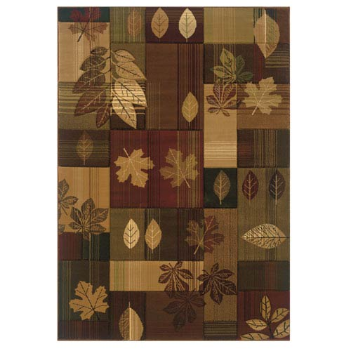 Designer Contours Autumn Bliss Multicolor Rectangular: 1 Ft 10 In x 2 Ft 8 In Rug