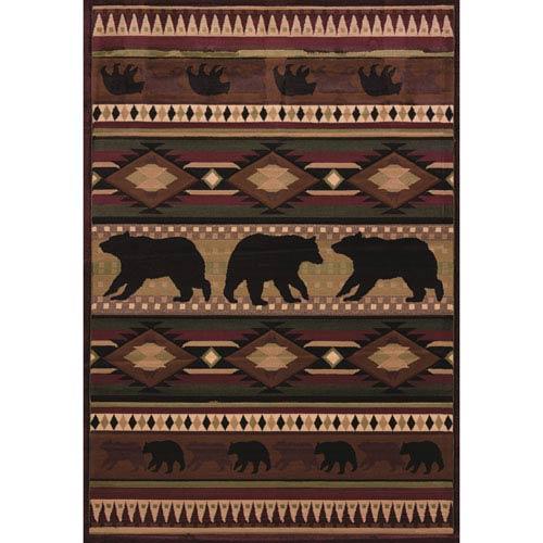 Designer Contours Native Bear Toffee Rectangular: 1 Ft 10 In x 3 Ft Rug