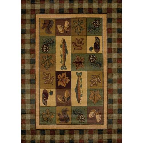 Genesis Timberland Multicolor Rectangular: 1 Ft 10 In x 3 Ft Rug