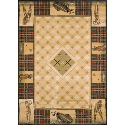 Genesis Classic Open Natural Rectangular: 1 Ft 10 In x 3 Ft Rug