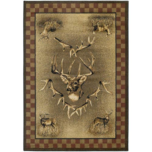 Marshfield White Tail Ridge Suede Rectangular: 1 Ft. 10 In. x 3 Ft.