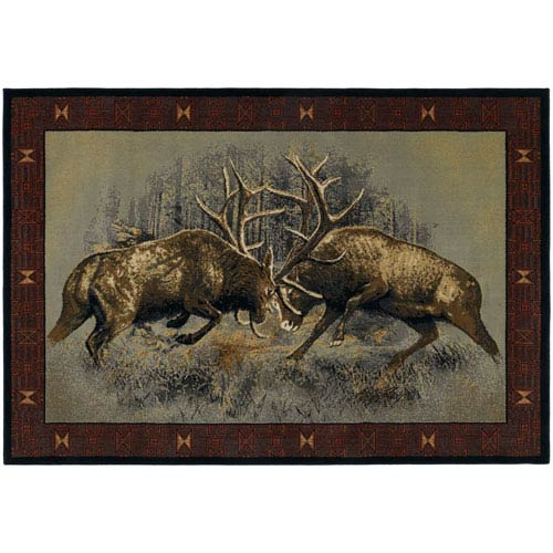 Fight for Dominance Ash Rectangular: 1 Ft. 10-Inch x 3 Ft.  Rug