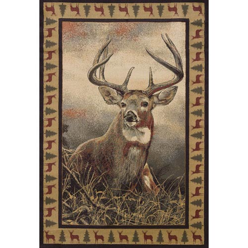 Wild Wings Majestic White Tail Rectangular: 1 Ft. 10 In. x 3 Ft.