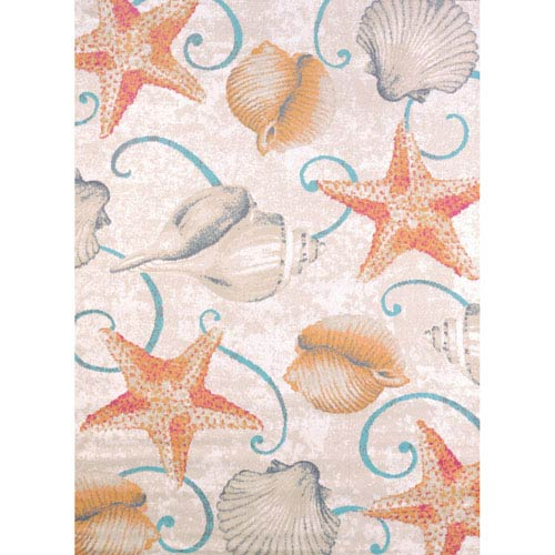 Regional Concepts Stars and Shells Tropical Rectangular: 1 Ft 10 In x 3 Ft Rug