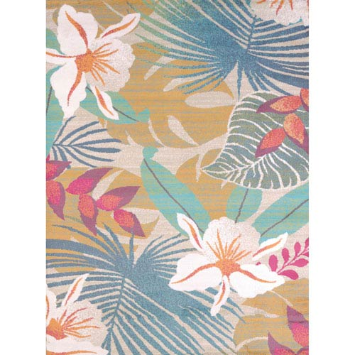 Regional Concepts Flower Jungle Tropical Rectangular: 1 Ft 10 In x 3 Ft Rug