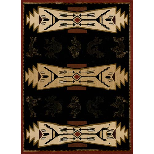 Trade Winds Black Rectangular: 1 Ft. 10-Inch x 3 Ft.  Rug