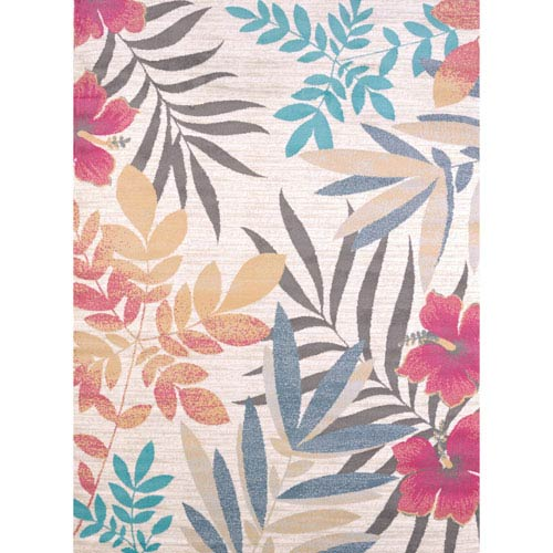 Modern Textures Sea Garden Multicolor Rectangular: 5 Ft 3 In x 7 Ft 2 In Rug