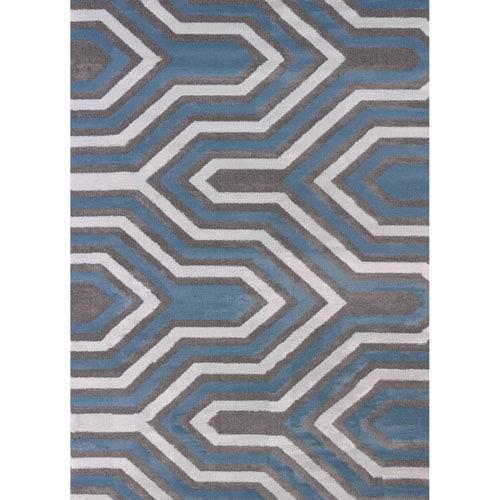 Modern Textures Cupola Charcoal Rectangular: 5 Ft 3 In x 7 Ft 2 In Rug