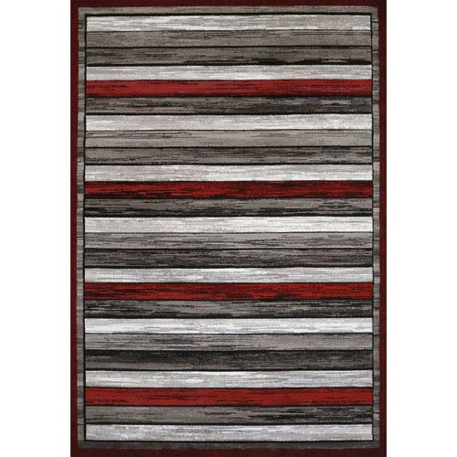 Studio Painted Scarlet Rectangular: 1 Ft. 10 In. x 3 Ft. Rug