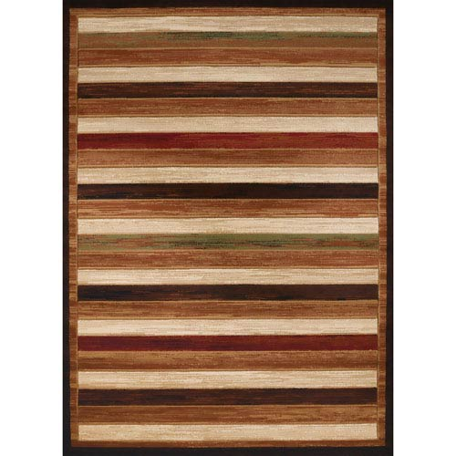 Studio Painted Brown Rectangular: 1 Ft. 10 In. x 3 Ft. Rug