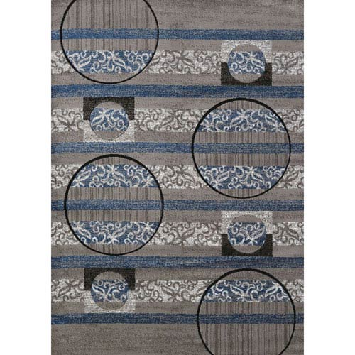 Studio Cymbals Grey Rectangular: 1 Ft. 10 In. x 3 Ft. Rug
