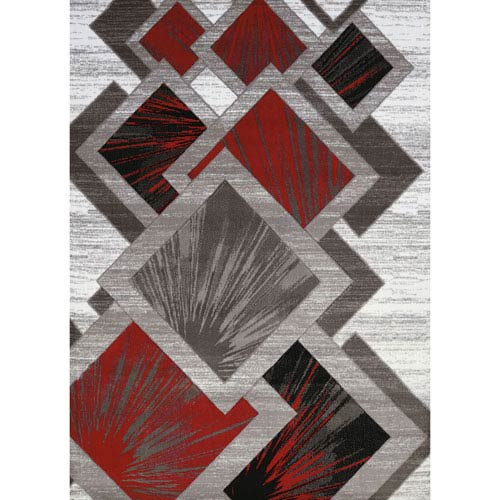 Studio Flash Scarlet Rectangular: 1 Ft. 10 In. x 3 Ft. Rug