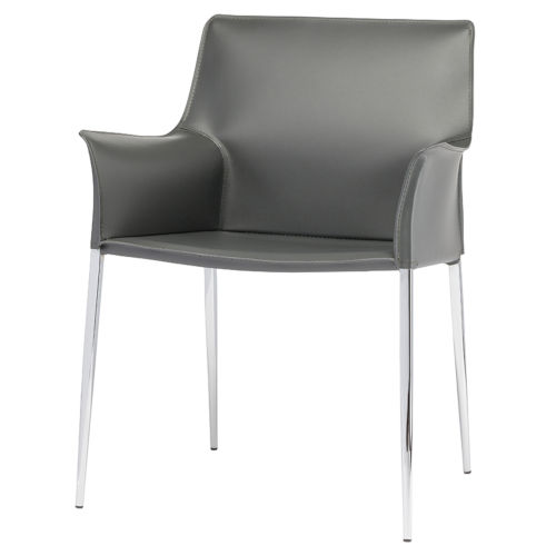 Colter Dark Gray and Silver Dining Chair