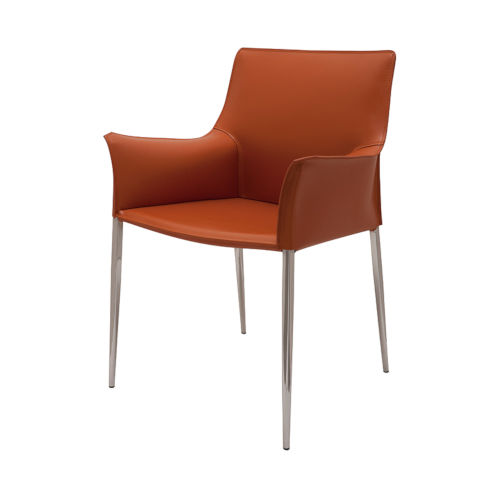 Colter Ochre and Silver Dining Chair