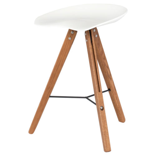 Theo White and Brown Counter Stool
