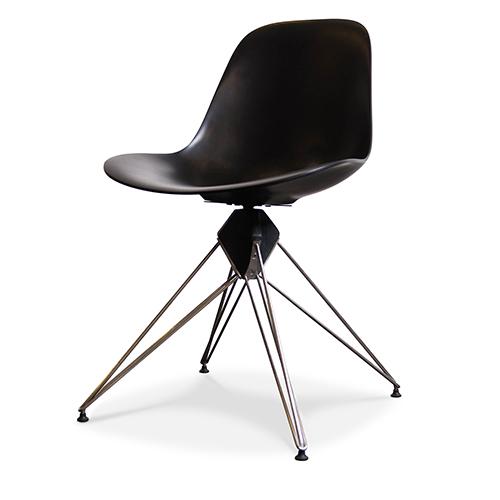 Kahn Matte Black Accent Chair