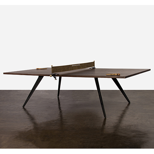 Matte Smoked Ping Pong Table