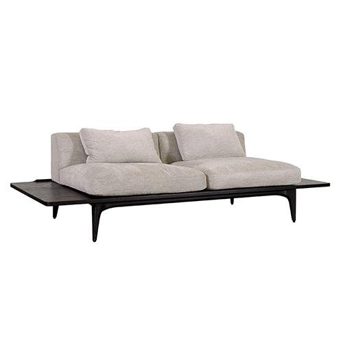 Salk Matte Shroom Triple Seat Sofa