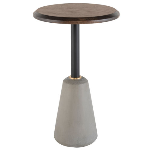 Exeter Walnut and Gray Side Table
