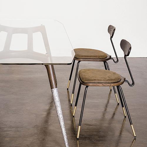Dayton Matte Umber Tan Dining Chair