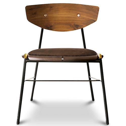 Kink Matte Umber Tan Dining Chair