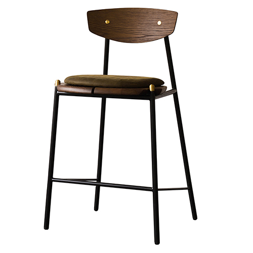 NUEVO Kink Matte Jin Green Counter Stool