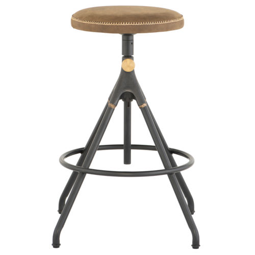Akron Tan and Black Counter Stool