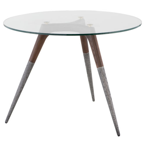 Brown and Clear Bistro Table
