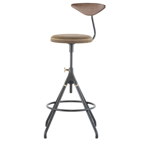 Akron Brown and Black Bar Stool