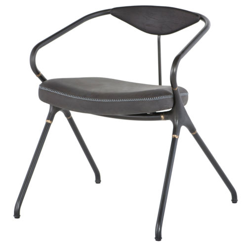 Akron Storm Black Dining Chair