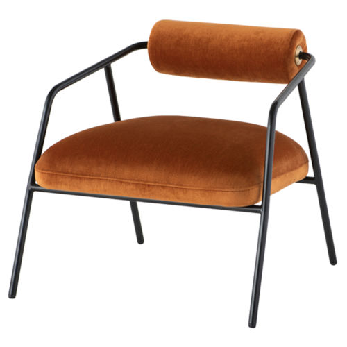 Cyrus Rust and Black Occasional Chair