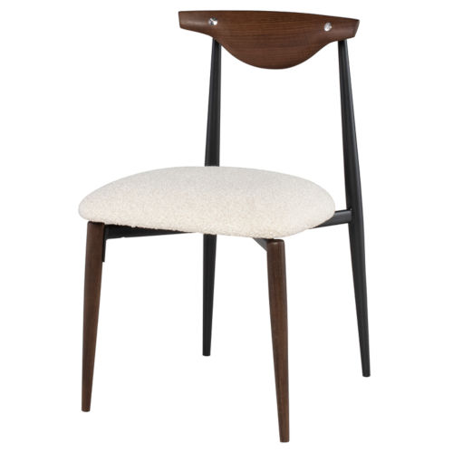 Vicuna Beige and Walnut Dining Chair