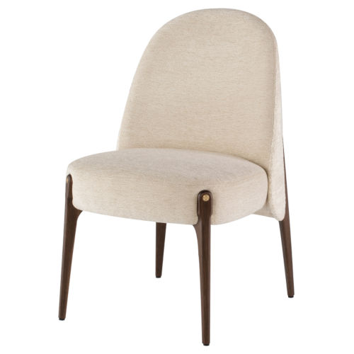Ames Gema Pearl and Walnut Dining Chair