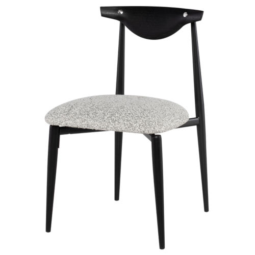 Vicuna Boucle Gray and Black Dining Chair