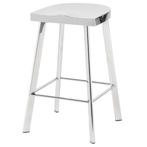 Icon Polished Silver Counter Stool