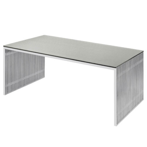 Amici Brushed Silver Dining Table
