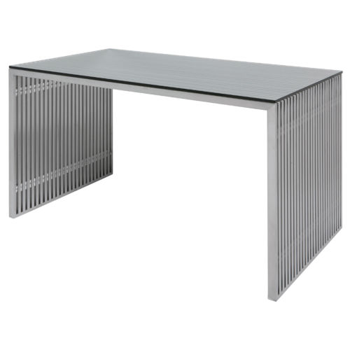 Amici Brushed Silver Desk