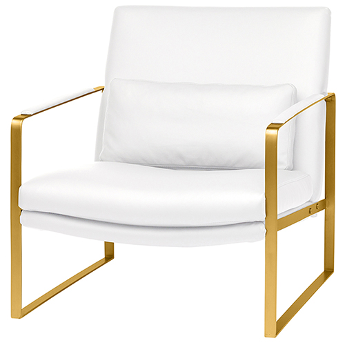 Suza Matte White Occasional Chair